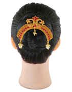 Red Colour South Matte Finish Designer Fancy Hair Brooch