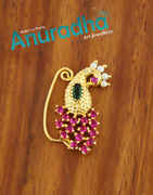 Peacock Design Multi Colour Styled With Pearls Beads Fancy Nath