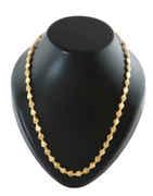 Fancy Gold Tone Designer Floral Chain For Men