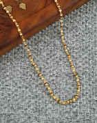 Simple Gold Finish Delicate Rudraksh Mala
