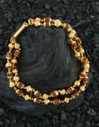 Delicate Gold Finish Fancy Bracelets For Men