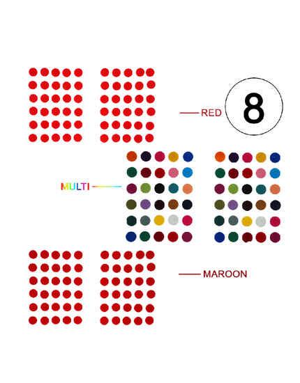 Fancy Multi Colour Simple Richie Rich Bindi