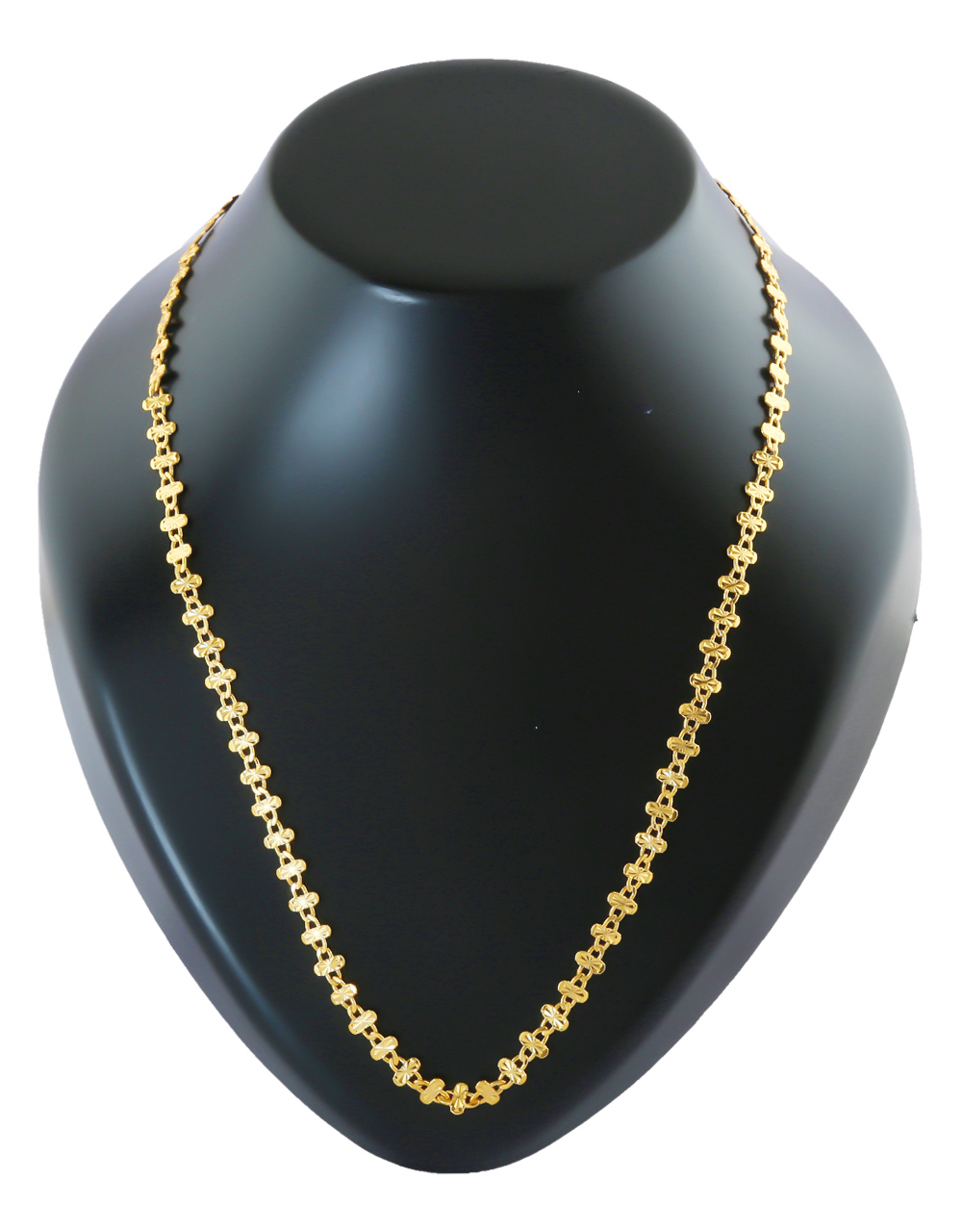 Designer Gold Finish Chain For Girls Fancy
