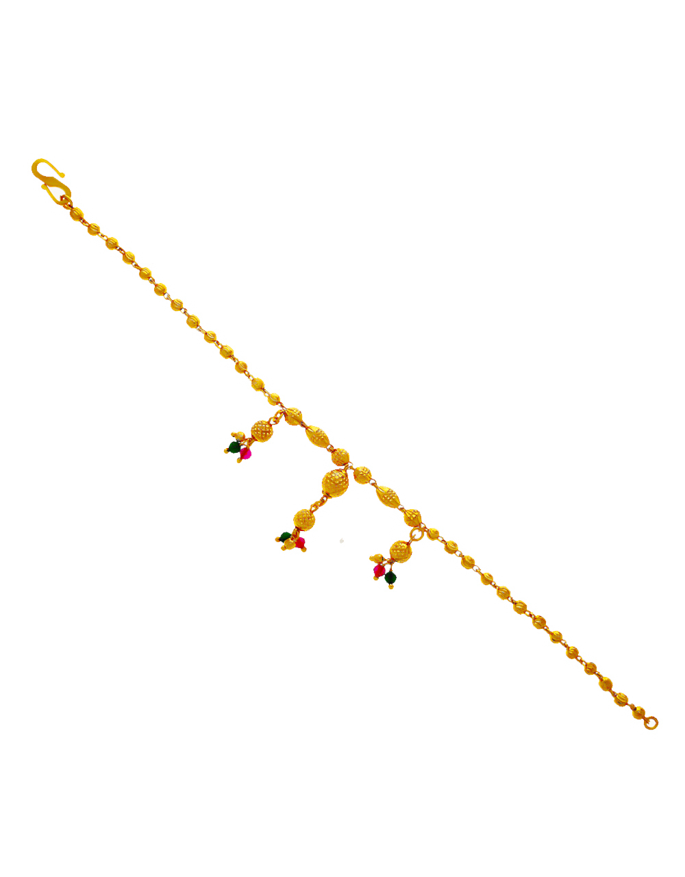 Gold Finish Multi Colour Traditional Hand Mangalsutra