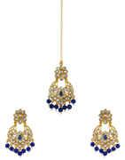 Navy-Blue Colour Gold Finish Fancy Earrings For Girls