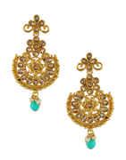 Simple Gold Finish Traditional Fancy Earrings For Girls Fancy