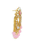 Pink Colour Gold Finish Stunning Fancy Chandbali Traditional Earrings
