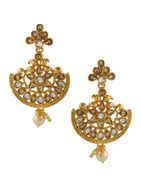 Very Classy Beautiful Gold Finish Chandbali Earrings
