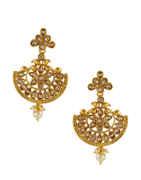 Traditional Gold Finish Fancy Earrings For Wedding Fancy