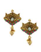 Antique Gold Finish Long Kundan Magalsutra For Weddings