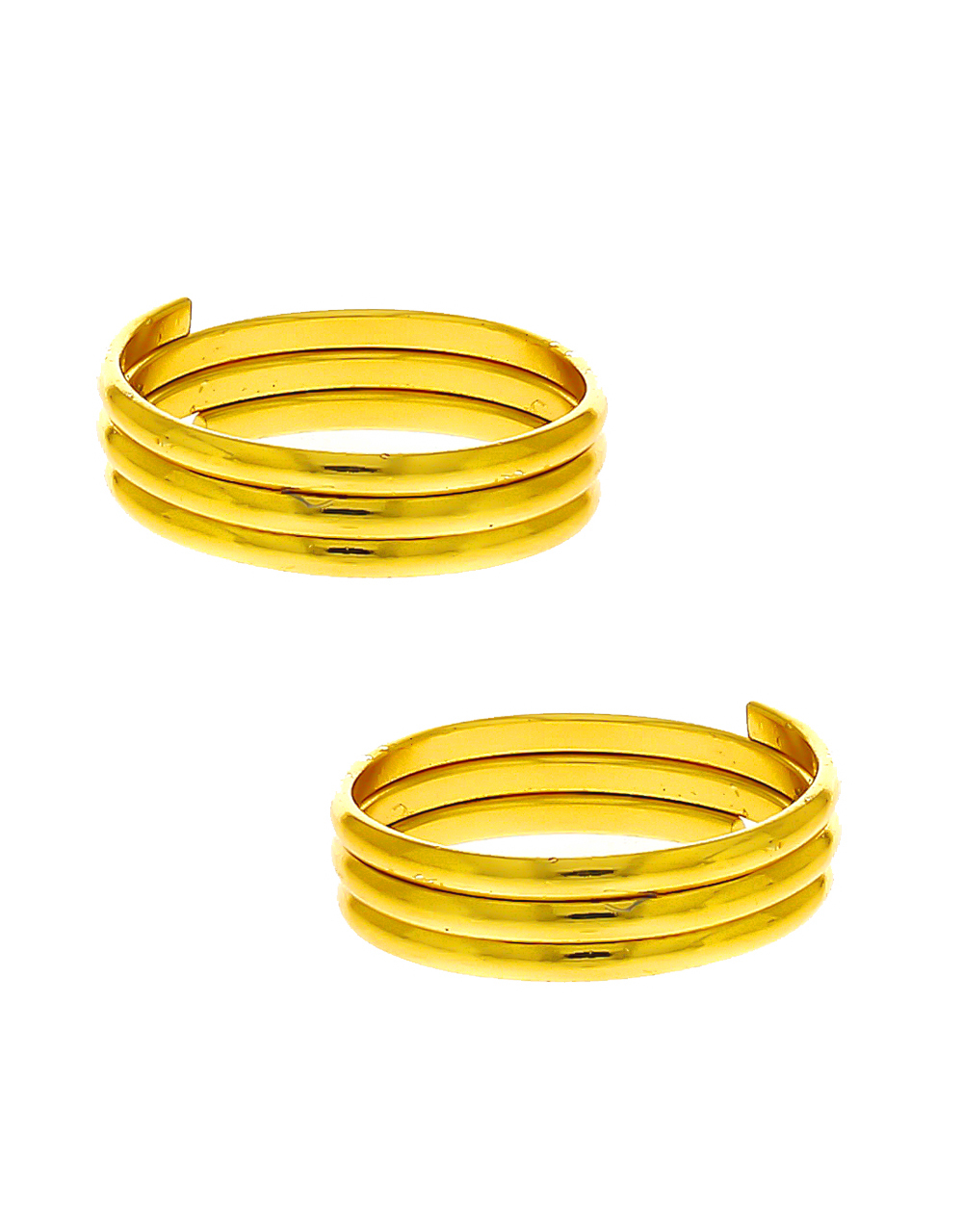 Simple Gold Finish Toe Ring For Women