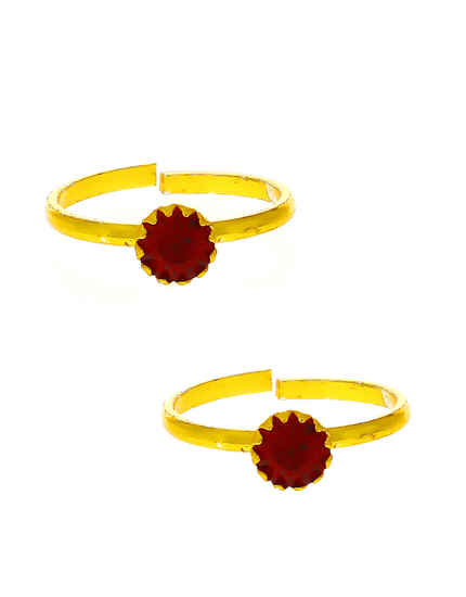 Red Colour Round Shape Bichudi Fancy For Women