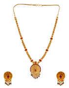 Red Colour South Matte Finish Designer Necklace