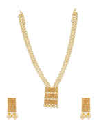 Designer Gold Finish Pearls Styled Moti Layered Necklace
