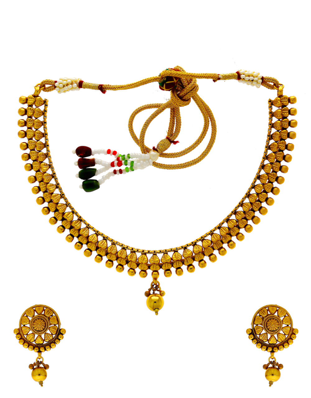 Simple Gold Finish Delicate Traditional Wear For Women