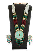 Multi Colour Gold Finish Party Wear Western Jewellery Necklace