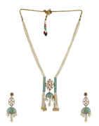 Unique Design Gold Finish Moti Necklace Western Jewellery