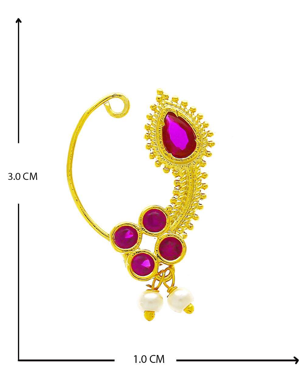Very Classy Designer Pink Colour Nathani