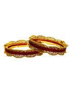 Ranu Colour Gold Finish Fashionable Traditional Bangles