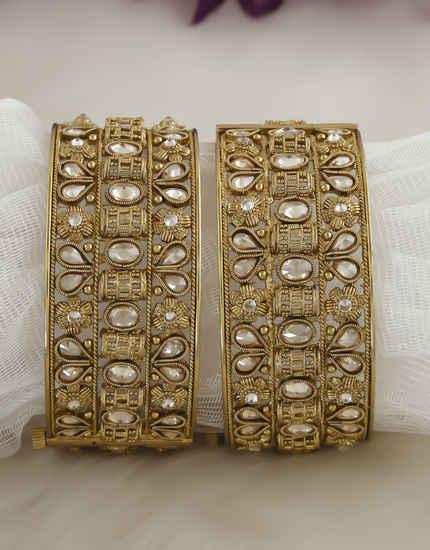 Antique Gold Finish Stunning Bangles Kada For Women