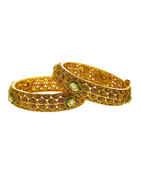Kundan Bangles Multi Colour Gold Finish Bangles Kada