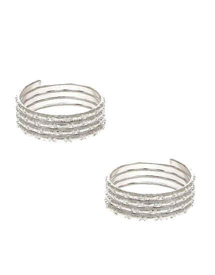 Silver Finish Toe Ring For Wedding Women