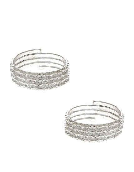 Fancy Silver Finish Toe Ring For Women