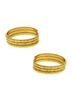 Gold Finish Fancy Toe Ring Trendy For Women