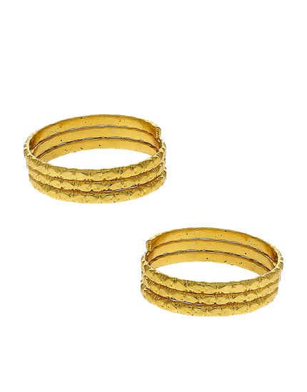 Gold Finish Fancy Toe Ring Trendy For Women