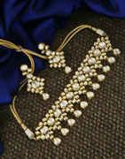 Beautiful Gold Finish Traditional Kundan Necklace For Women