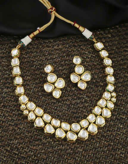 Very Classy Unique Design Kundan Necklace Jewellery