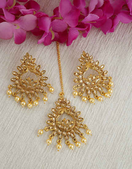 Gold Finish Traditional Stunning Earring For Women Fancy