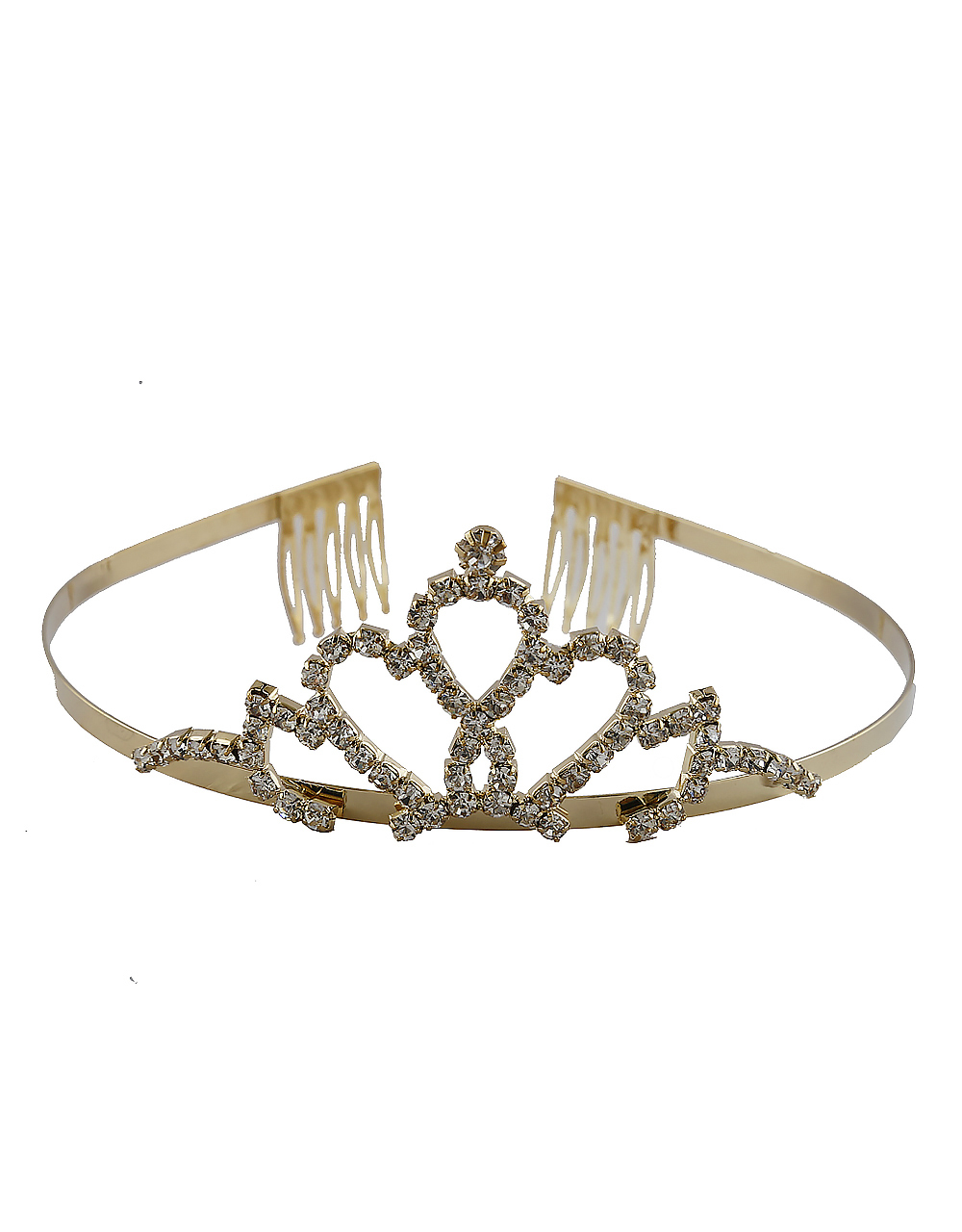 Adorable Gold Finish Studded With Stones Fancy Crown