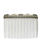 White Colour Adorable Hair Puff Pin Comb