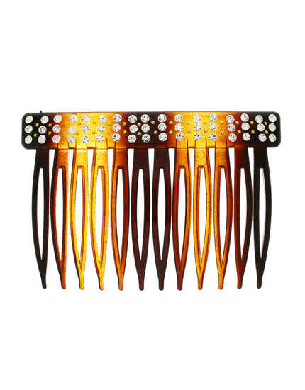 Brown Colour Fancy Plastic Hair Comb Pin For Girls