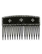 Black Colour Studded With Stones Fancy Comb Pin For Girls
