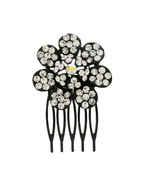 Floral Design Black Colour Stunning Comb Pin