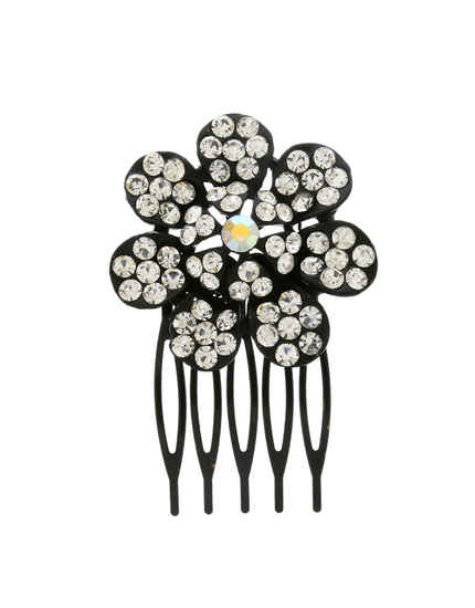 Floral Design Black Colour Stunning Comb Pin
