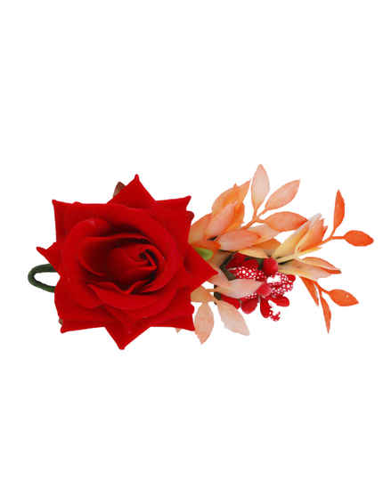 Rose Flower Hair Fancy Jewellery For Women