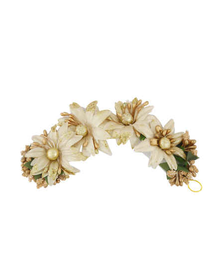 Gold Flower Styled Hair Accessories For Girls Trendy