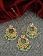 Very Classy Gold Finish Traditional Chandbali Earrings