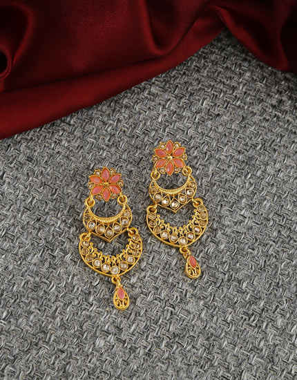 Very Classy Designer Floral Design Traditional Earrings