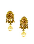 Designer Gold Finish Stunning Pendant Set For Women