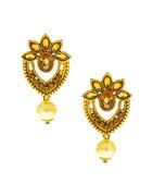 Floral Design Antique Gold Finish Designer Fancy Pendant Set