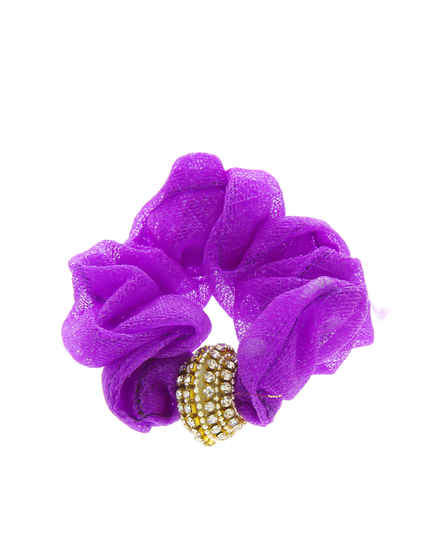 Purple Colour Adjustable Hair Rubber Band For Women