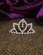 Simple Silver Finish Stunning Hair Crown For Girls