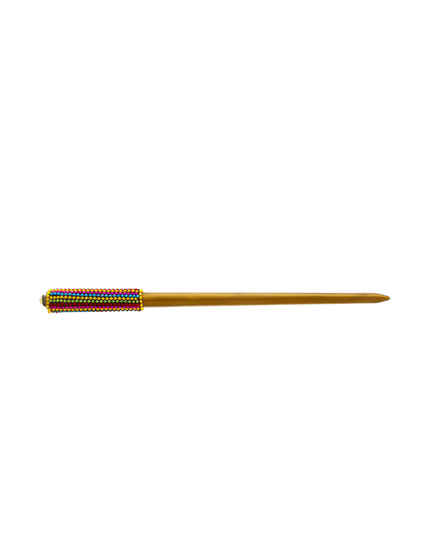 Multi Colour Gold Finish Western Wear Hair Stick