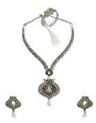 Designer Silver Finish Fancy Necklace For Women