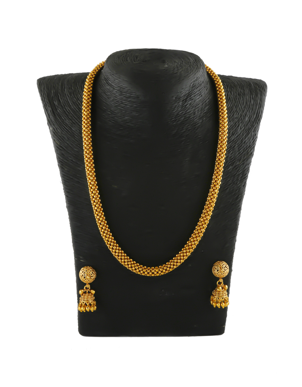 Gold Finish Thushu Necklace Jewellery For Wedding