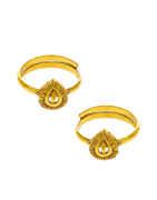 Simple Gold Finish Bichudi Toe Ring For Women